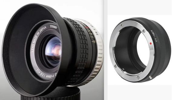 Lente Hoya Hmc 28mm Com Adapt. Novo Sony E Ou Fujix