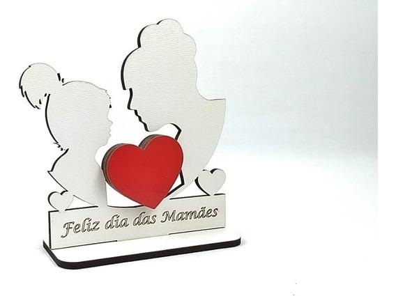 Kit 180 Trofeus Lembrança Dia Das Mães Mdf Branco Menino(a)