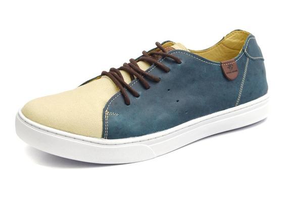 Sapatênis Masculino Couro Shoes Grand Miami Conforto