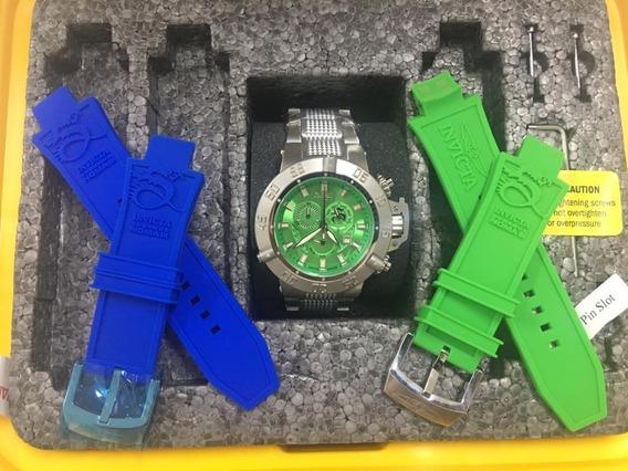 Relógio Masculino Invicta 6687 Com Maleta Blindada E 3 Pulseiras