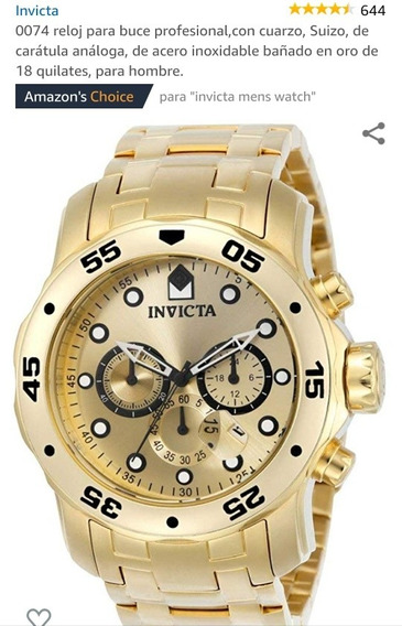 Relógio Invictluxo Dourado Pro Drive 0074 Original Masculino