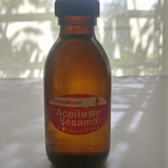 Aceite De Sésamo 125 Ml En Botella Cristal Ámbar