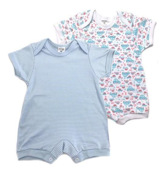 Macacão Curto Para Bebê Kit C/2 - Macaquinhos - Body