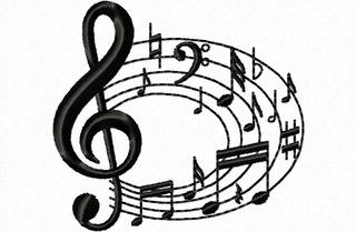 Matriz Bordado Notas Musicais