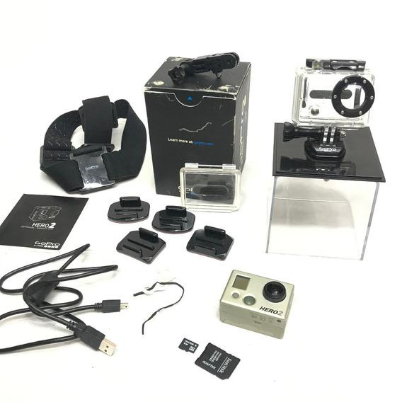 Camera Gopro Hero 2 Na Caixa Com Acessórios - Usada