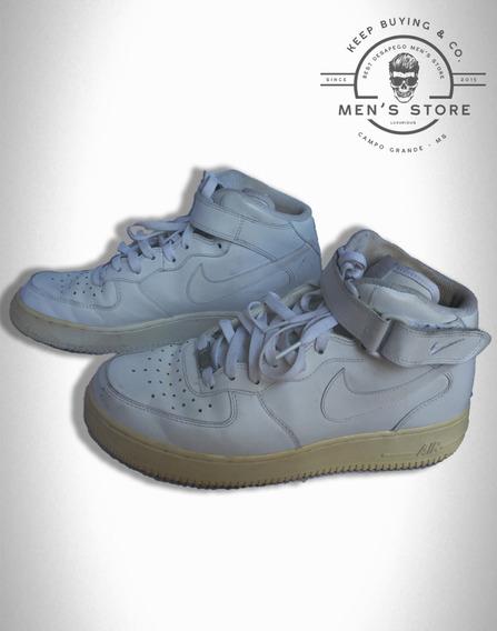 Tênis Air Force 1 Mid Branco Nike