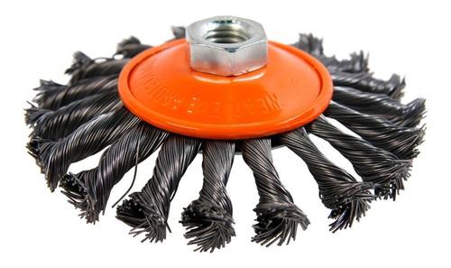 Cepillo Conico Trenzado Amoladora 115 Mm Hamilton Bnt115