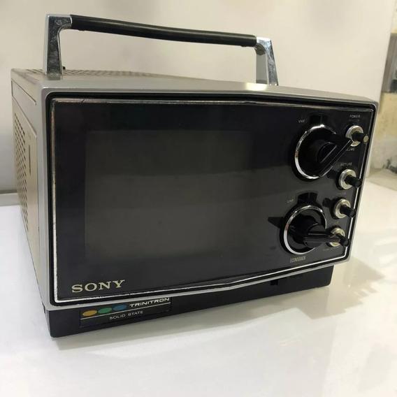 Televisão Portatil Sony Kv-5100 Retro Raridade - Com Defeito