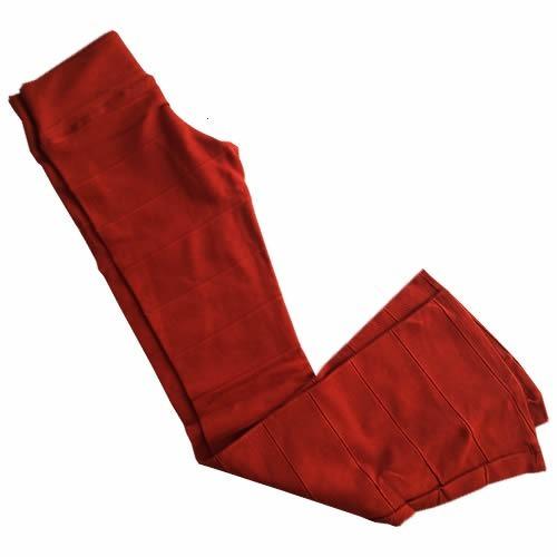 Calça Bandagem Flare Boca De Sino Cintura Alta Cós Alto 383