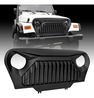Parrilla Frontal Jeep Wrangler Tj Gladiador Negro Abs Rejill
