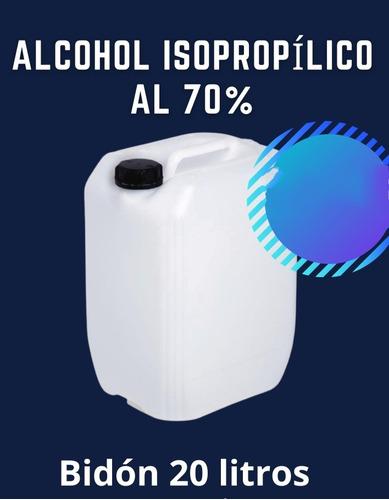 Alcohol Isopropilico Al 70 % Presentacion Bidon 20 Litros