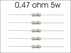 10 X Resistor 0,47 Ohms 5w