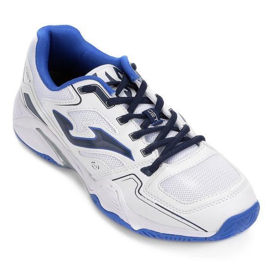 Chuteira Joma All Court Tennis Futsal E Volei Branco Azul