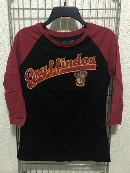 Playera Harry Potter Gryffindor Baseball Manga 3/4 Dama