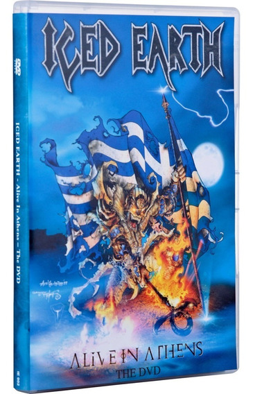 Iced Earth - Alive In Athens (dvd Lacrado - Novo)