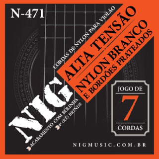 Encordoamento Violão Nylon Branco Nig N471 Alta Tensão 7cord