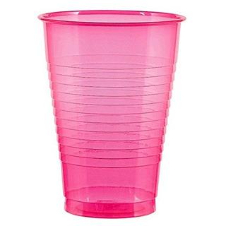Vajilla Reutilizable De Vasos De Plástico Neon 50 Piezas De