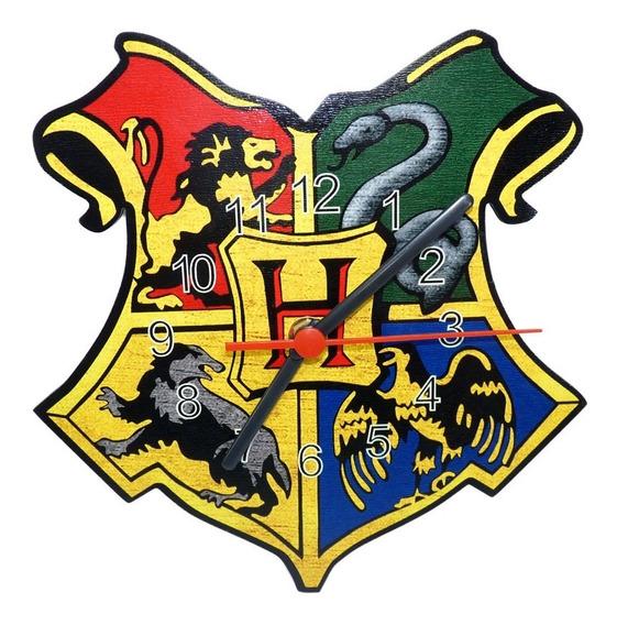Relógio De Parede Harry Potter Grifinoria Sonserina Corvinal