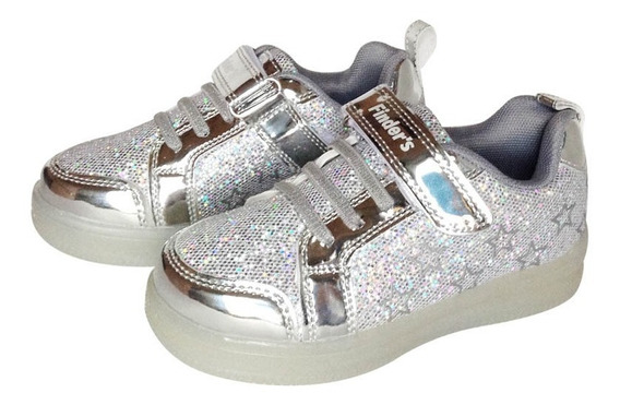 Zapatillas Con Luces Led Niña Finders Glitter Girl 1389
