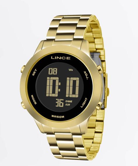 Relogio Digital Feminino Dourado Lince Original A Prova Dagua Com Garantia De Fabrica E Nota Fiscal Sdph038l