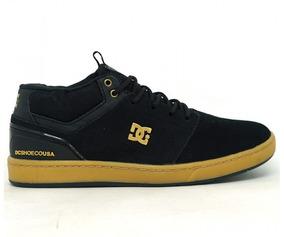 Tênis Dc Shoes Cole Signature Mid Couro Preto