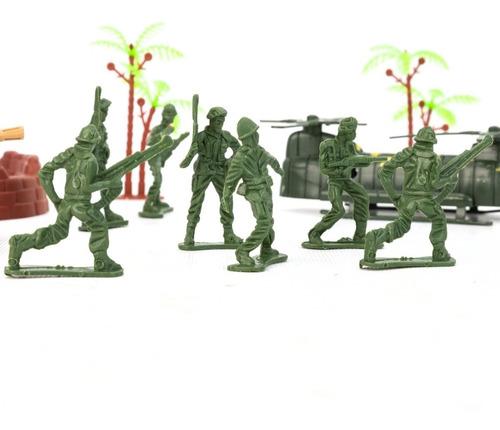 Set De Soldaditos Armas Y Accesorios Para Combate Militar