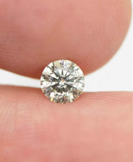 Diamante 50 Pts, Certificado Igl, Cor J, Si2, 5.10 Mm !