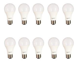 10 Foco Led 9 Watts Equivalente A 60 Watts Igoto Luz Blanca
