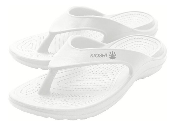 Ojotas Kioshi Flip Flops Blanco Silver Men