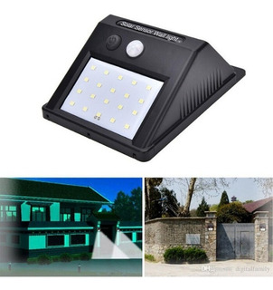 Lampara Solar Panel Led Sensor Movimiento Interior Exterior