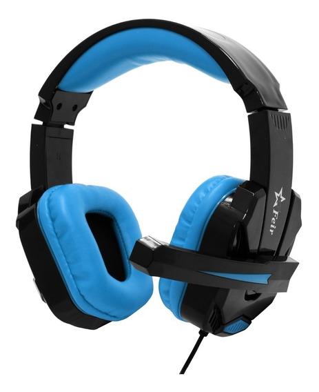 Headset Gamer Ps4 Xbox One Fio Com Microfone Fr-512 Azul