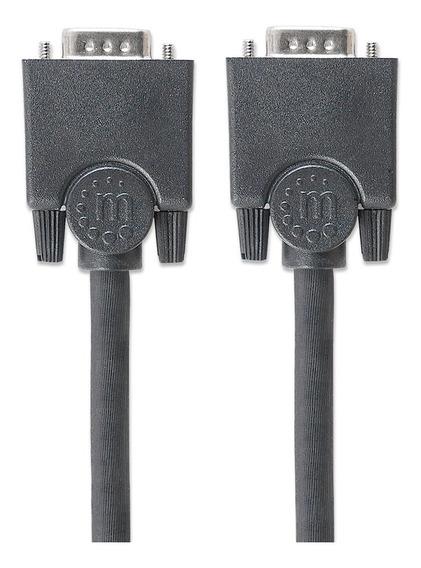 Cable Vga Manhattan Para Monitor O Proyector 3 Mts Negro Mac