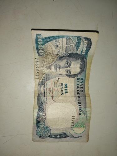 Imagen 1 de 1 de Billete De Mil Peso Oro De 1995