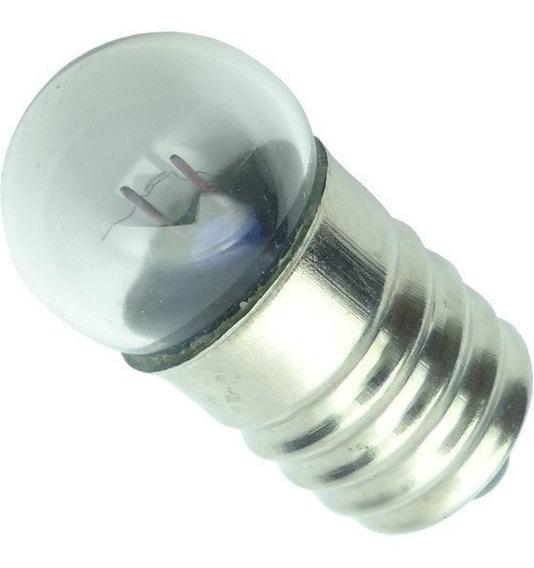 Lampada Redonda Base E10 2.5 V 0,3 Mha 0,75 W Lote 50 Peças