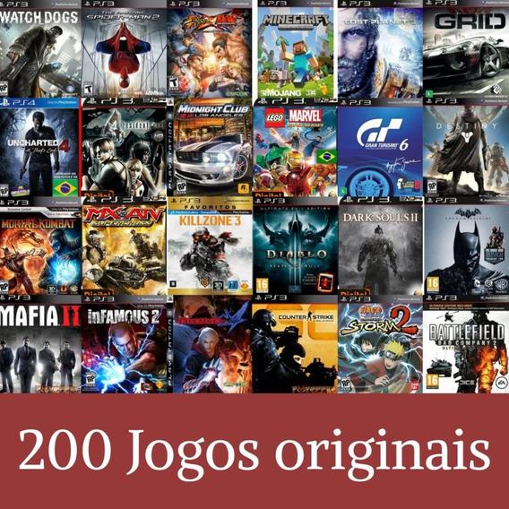 Pacote De 200 Jogos De Ps3 + Brinde - Leia A Descrição
