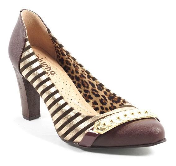 Sapato Feminino Valent Listrado Miucha 8485