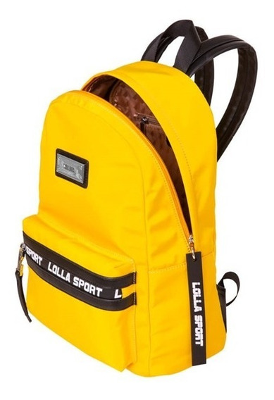 Mochila Nylon Sport Santa Lolla Preta/amarela/branca