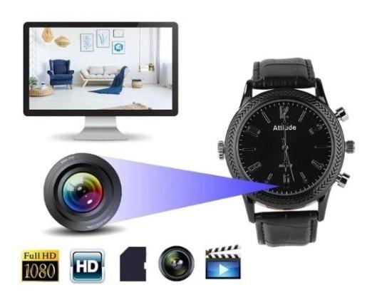 Relógio Espião Câmera Luxo Hd Qualidade