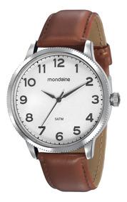 Relógio Pulseira De Couro Mondaine Original A Prova D
