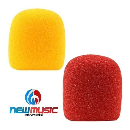 Kit Espuma Csr Para Microfone 2 Un. Vermelha E Amarela #952