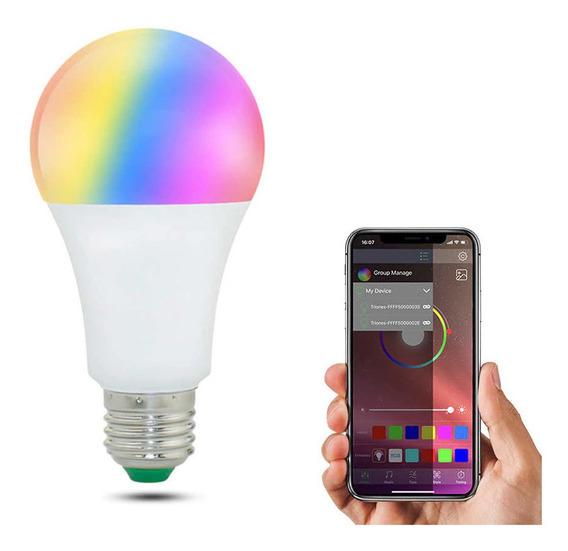 Lampada Led Inteligente Rgb 15w Android Smart Wifi Bivolt