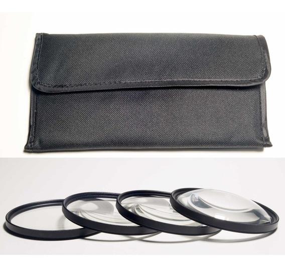Kit Filtros Close-up 1 2 4 E 10 De 58mm Para Foto Macro