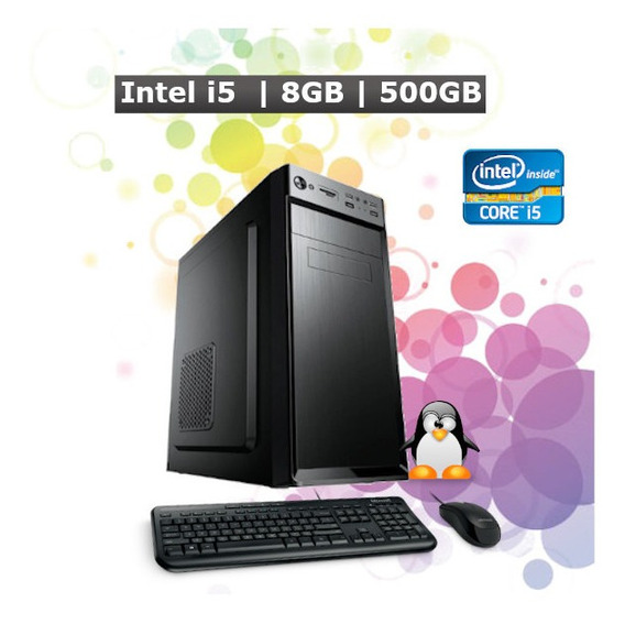 Pc Computador Desktop Core I5 8gb Hd 500gb Hdmi + Kit + Nf