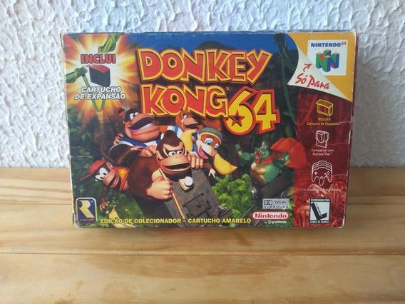 Donkey Kong 64 N64 - Ed. Colecionador + Cartucho De Expansão