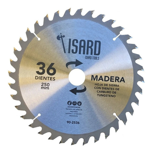 Imagen 1 de 6 de Sierra Circular Madera Isard 250mm 36 Dientes