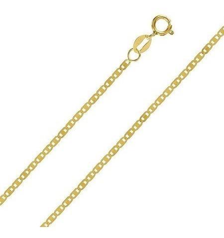 Corrente Feminina Piastrine Maciça Em Ouro 18k 45cm
