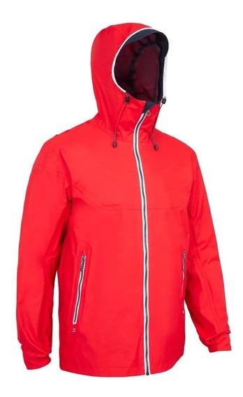 Jaqueta Impermeável Masculina Vermelha Protege Da Chuva
