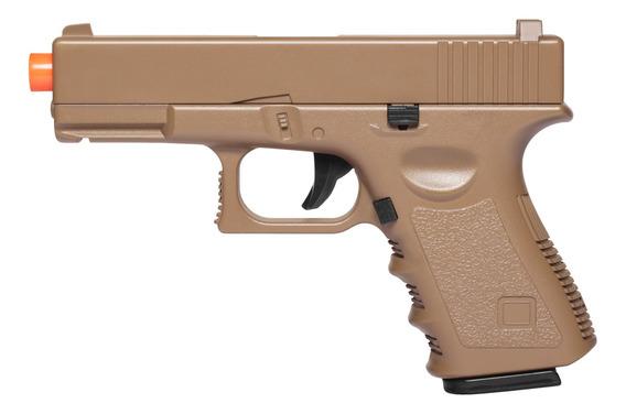 Pistola De Airsoft Spring G15d Desert Full Metal 6mm - Galaxy
