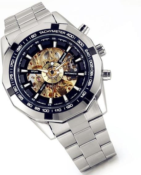 Lancardo Reloj Mecánico Automático Dial Hueco Envío Gratis