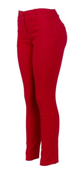 Pantalón De Vestir Strech, Entallado, Con Bolsas, Casual.